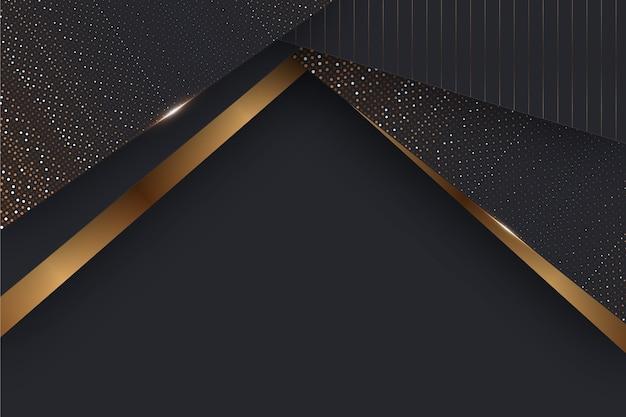 Papierlagen behang met gouden details
