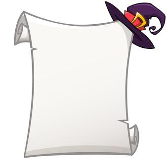 Papierrol voor halloween-uitnodiging of poster