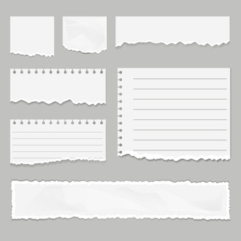 Papiersnippers geïsoleerde set