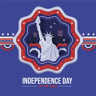 Papierstijl 4 juli - onafhankelijkheidsdag illustratie