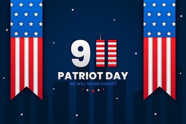 Papierstijl 9.11 patriot dag achtergrond