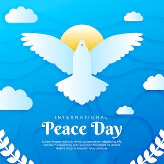 Papierstijl internationale dag van de vrede