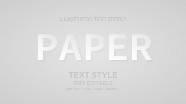 Papierstijl lettertype stijl 100% bewerkbare vectorillustratie