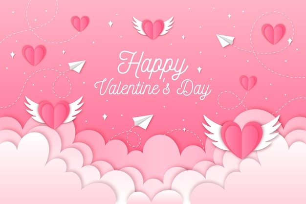 Papierstijl valentijnsdag behang