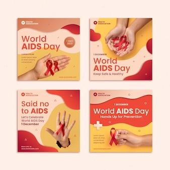 Papierstijl wereld aids dag instagram posts collectie