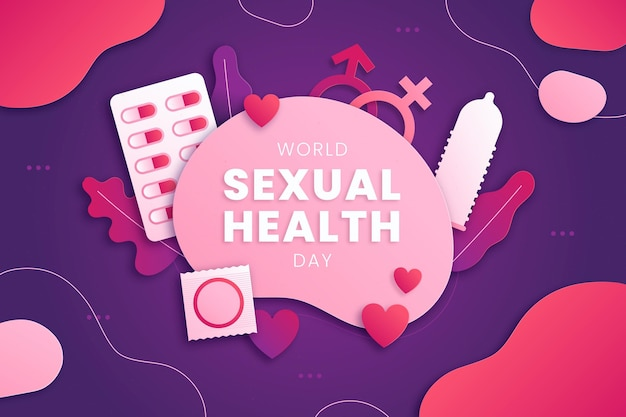 Papierstijl wereld seksuele gezondheid dag achtergrond