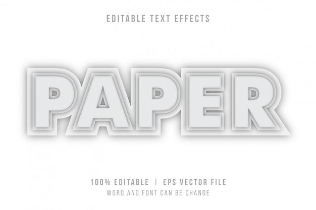 Papierwoord met papercut tekststijleffect