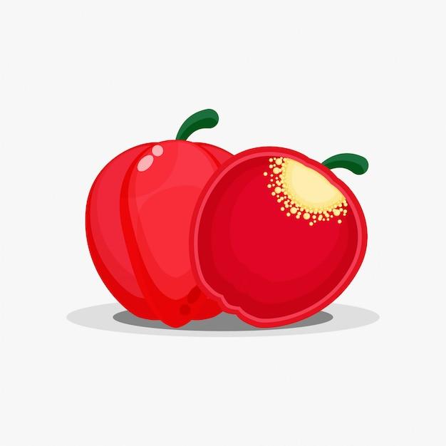 Paprika en paprika plakjes