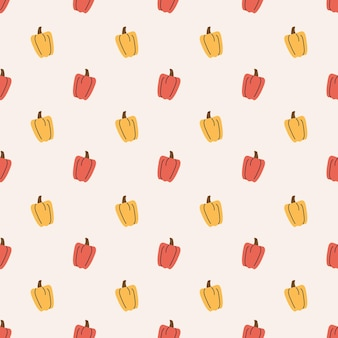 Paprika naadloze patroon achtergrond