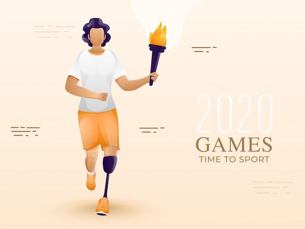 Para-atleet, para-games achtergrond.