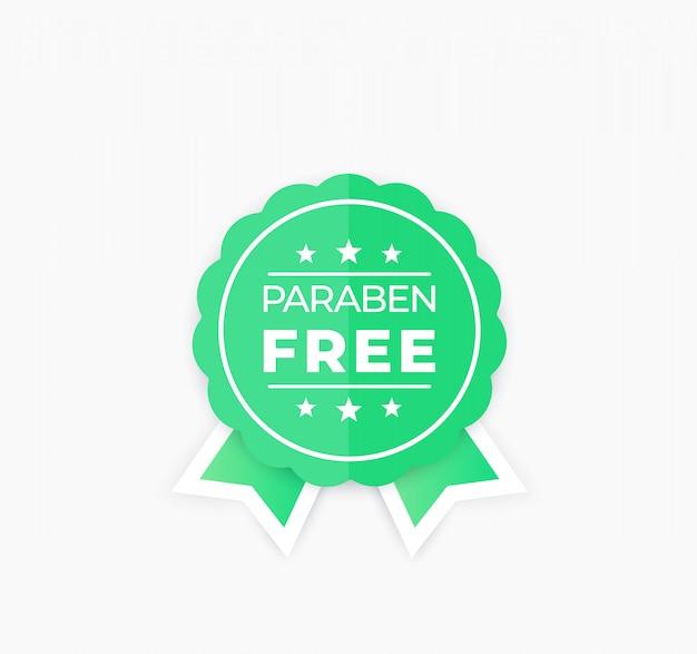 Paraben gratis badge, vector label