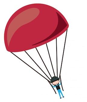 Parachutist door de lucht