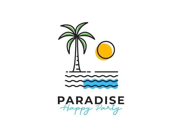 Paradijs gelukkig feest ontwerpconcept
