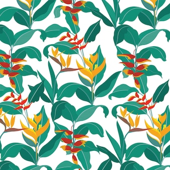 Paradijsvogel achtergrond botanica behang patroon natuur achtergrond