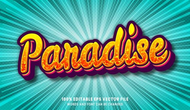 Paradise 3d bewerkbaar tekststijleffect