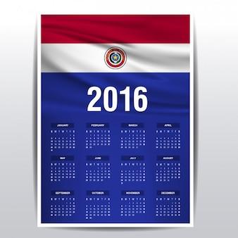 Paraguay kalender van 2016