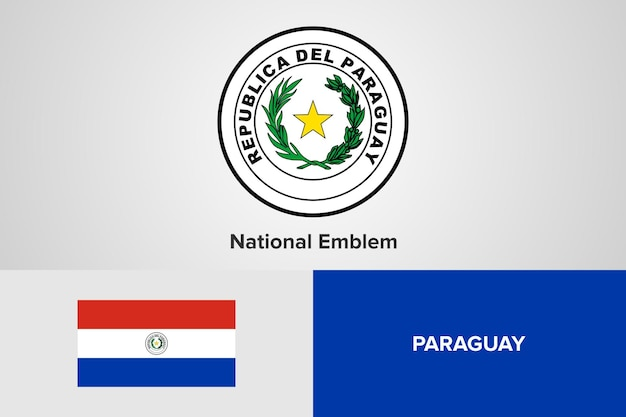 Paraguay national emblem flag template