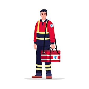 Paramedicus semi rgb-kleurenillustratie