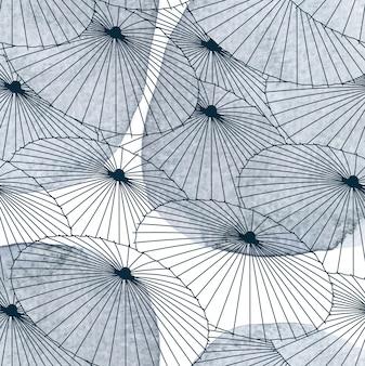 Paraplu patroon, aquarel textuur. aziatische stijl.