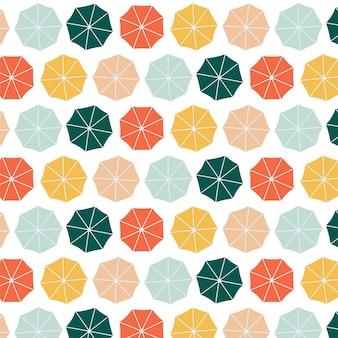 Paraplu's kleurrijke naadloze patroon achtergrond