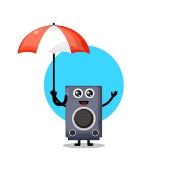 Paraplu spreker schattig karakter mascotte
