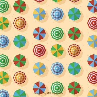 Parasols patroon in plat design