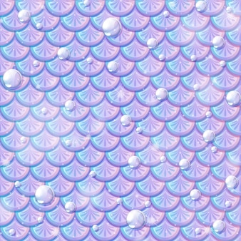 Parelmoer zeemeermin schalen naadloos patroon