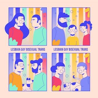 Paren die trotsdag evenement vieren