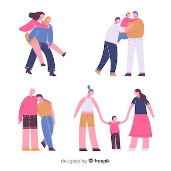 Paren en families van de hoogdagen