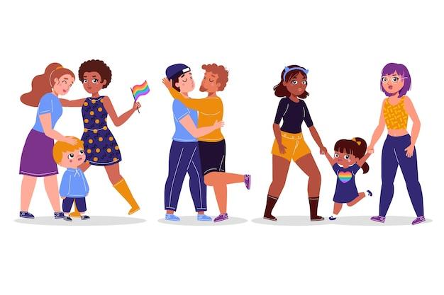 Paren en gezinnen vieren trotsdag
