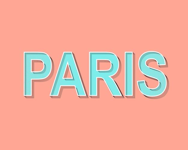 Parijs belettering wenskaart.