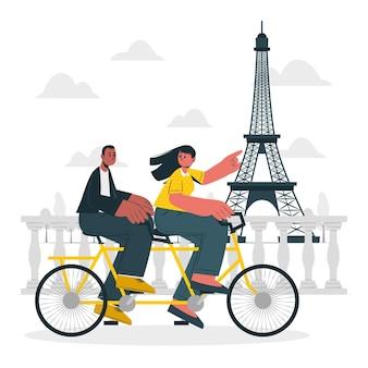 Parijs concept illustratie