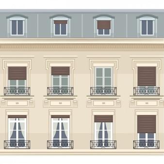 Parijs gebouw illustratie