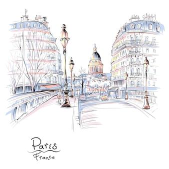 Parijs in de winterochtend, frankrijk