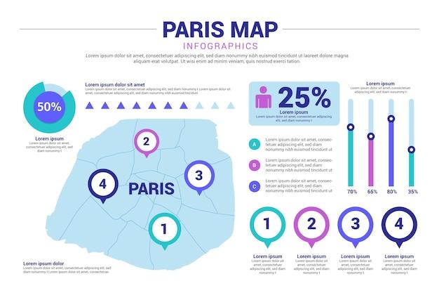 Parijs kaart infographics