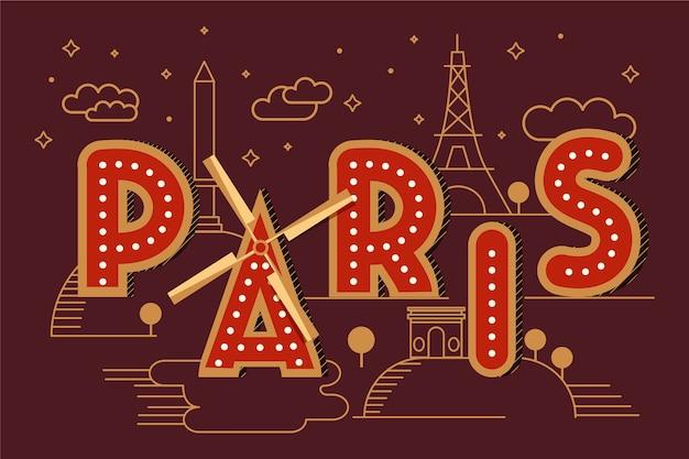 Parijs stad belettering