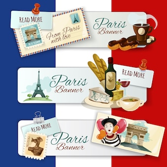 Parijs toeristische banners
