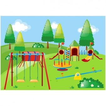Park achtergrond ontwerp