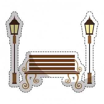 Park bank icoon