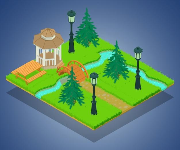 Park grondgebied concept