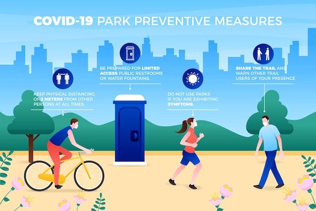 Park preventieve maatregelen concept