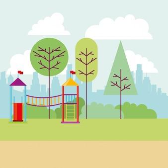 Park stad speelplaats boom aard