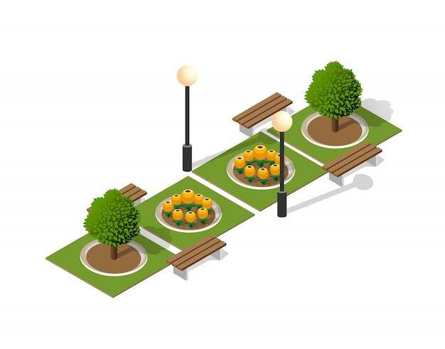 Parkeer de natuur met bomenlandschap