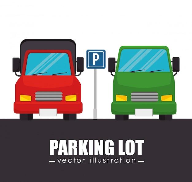 Parkeerplaats auto's grafisch