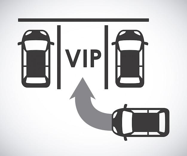 Parkeersignaal over grijze achtergrond vectorillustratie
