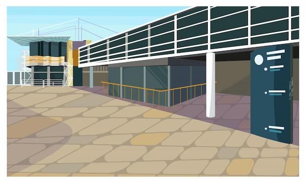 Parkeerterrein voor de illustratie van het blokhuis