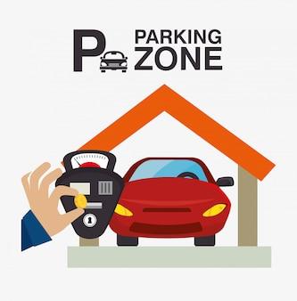 Parkeren of park zone ontwerp