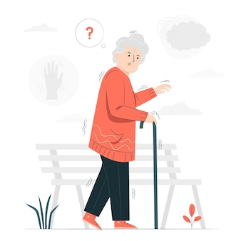 Parkinson concept illustratie