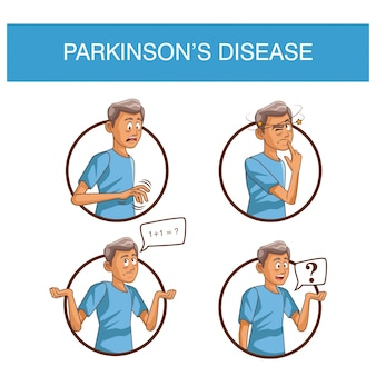 Parkinson ziekte cartoon