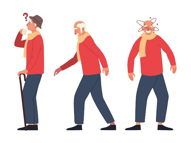 Parkison symptomen oudere man geïsoleerd